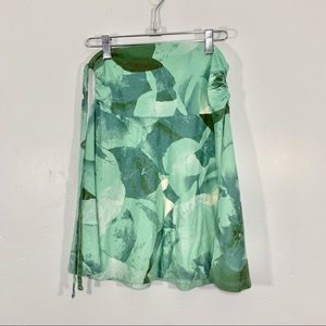 Patagonia | Green Leaf Watercolor Pattern Skirt